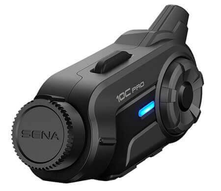 SENA 10C-PRO Motorrad Bluetooth Headset mit WiFi QHD Action Kamera, FM